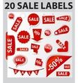 Labels set 20 sale vector