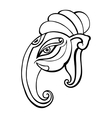 Elephant head ganesha hand drawn vector