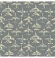 Seamless pattern with military airplanes 02 vector