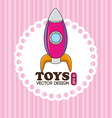 Toys design over pink background vector