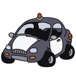 Funny police car vector