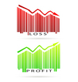 Profit and loss graph vector