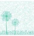 Dandelion retro card vector
