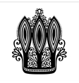 Decorative ornate crown vector