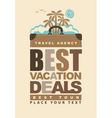 Best vacation deals vector