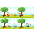 Children and park vector