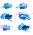 Heart shape boxes vector