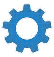 Blueprint gear icon vector