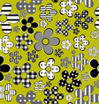 Patterned flowers background vector