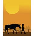 Horse rider vector