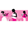 Pregnant women silhouttes vector