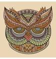 Decorative ornamental owl head vector