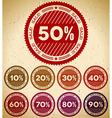 Set of retro sale stamps vector