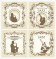 Vintage frame - jazz musician vector