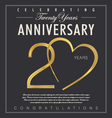 20 years anniversary black background vector