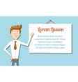 Cartoon manager with flip chart vector