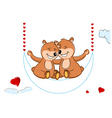 Valentine's teddy bears vector