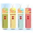Four colorful card with heart vector