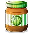 A jar of watermelon jam vector