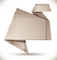 Origami style abstract background vector