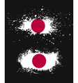 Grunge japanese ink splattered flag vector