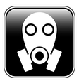 Gas mask symbol button vector