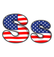 United states letter of the alphabet vector