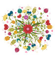 Colorful bouquet made of flowers vector