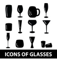 Black glasses icons set eps10 vector