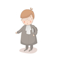 Cartoon of lawyer vector