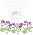 Floral background with color pansies vector