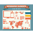 Collection of infographics elements vector