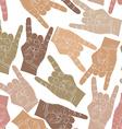 Rock hands seamless pattern rock metal rock and vector