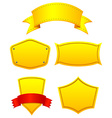 Yellow labels vector
