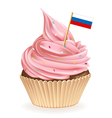 Russian cupcake vector