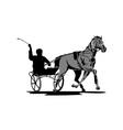Horse and jockey harness racing vector