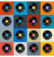 Retro vintage vinyl record disc background vector