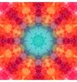 Retro pattern made of hexagonal shapes mosaic vector