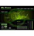 Webpage template in the green and dark vector