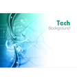Background line wave light tech turquoise vector