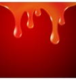 Drips abstract background orange red vector