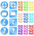 Glossy icons vector