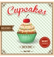 Cupcake cafe poster vector