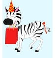 Zebra with gift vector