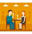 Date in restaurant vector