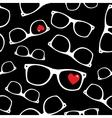 Hipster symbols valentines day background vector