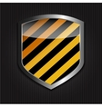 Protect shield on black background vector