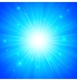Blue shining sun background vector
