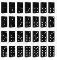 Domino black set vector