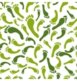 Green footprint seamless pattern for your design vector